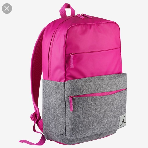 1dd182b217 Nike Jordan Pivot Backpack Pink Grey AUTHENTIC